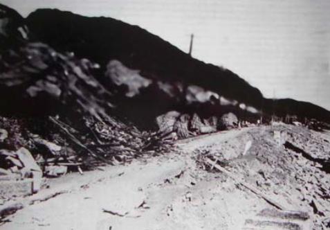 湘南の津波による被害。