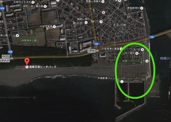 湘南平塚ビーチパーク Google マップ 2016 06 23 23 32 12
