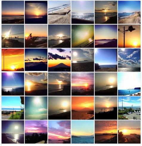 ぼくが湘南にすむ理由は100個くらいあって、1つ目は夕日が圧倒的に綺麗だから。