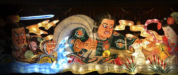 初詣,節分と言えば寒川神社。ねぶたが迎えてくれました。