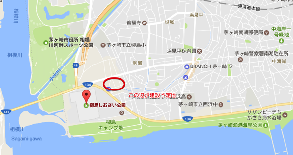 柳島しおさい公園 Google マップ 2017 05 23 23 33 34