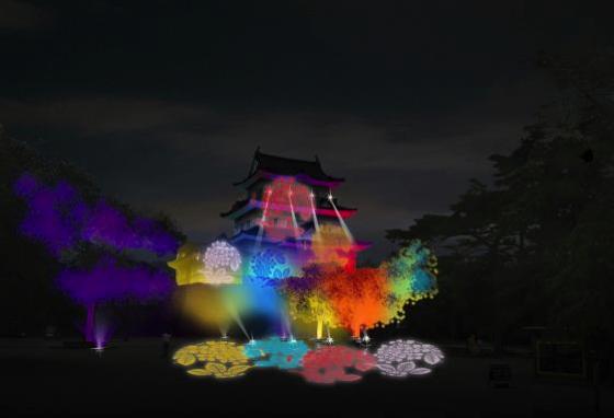 【小田原】小田原城で行われる冬桜イルミネーションを見に行こう!!2017年12月9日から