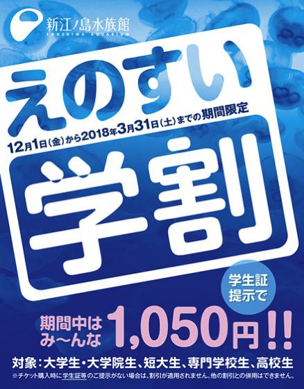 【藤沢】新江ノ島水族館で学割期間だったので調べて見たら、他の割引もすごかった。
