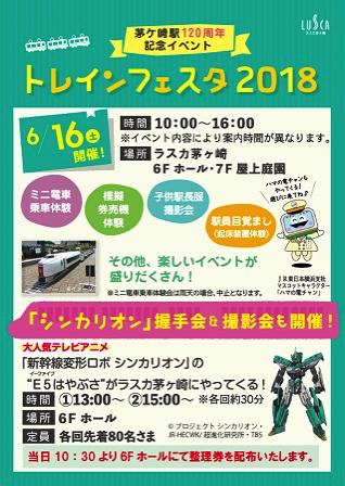 【茅ヶ崎】トレインフェスタ2018がラスカ茅ヶ崎で6月16日(土)に開催。