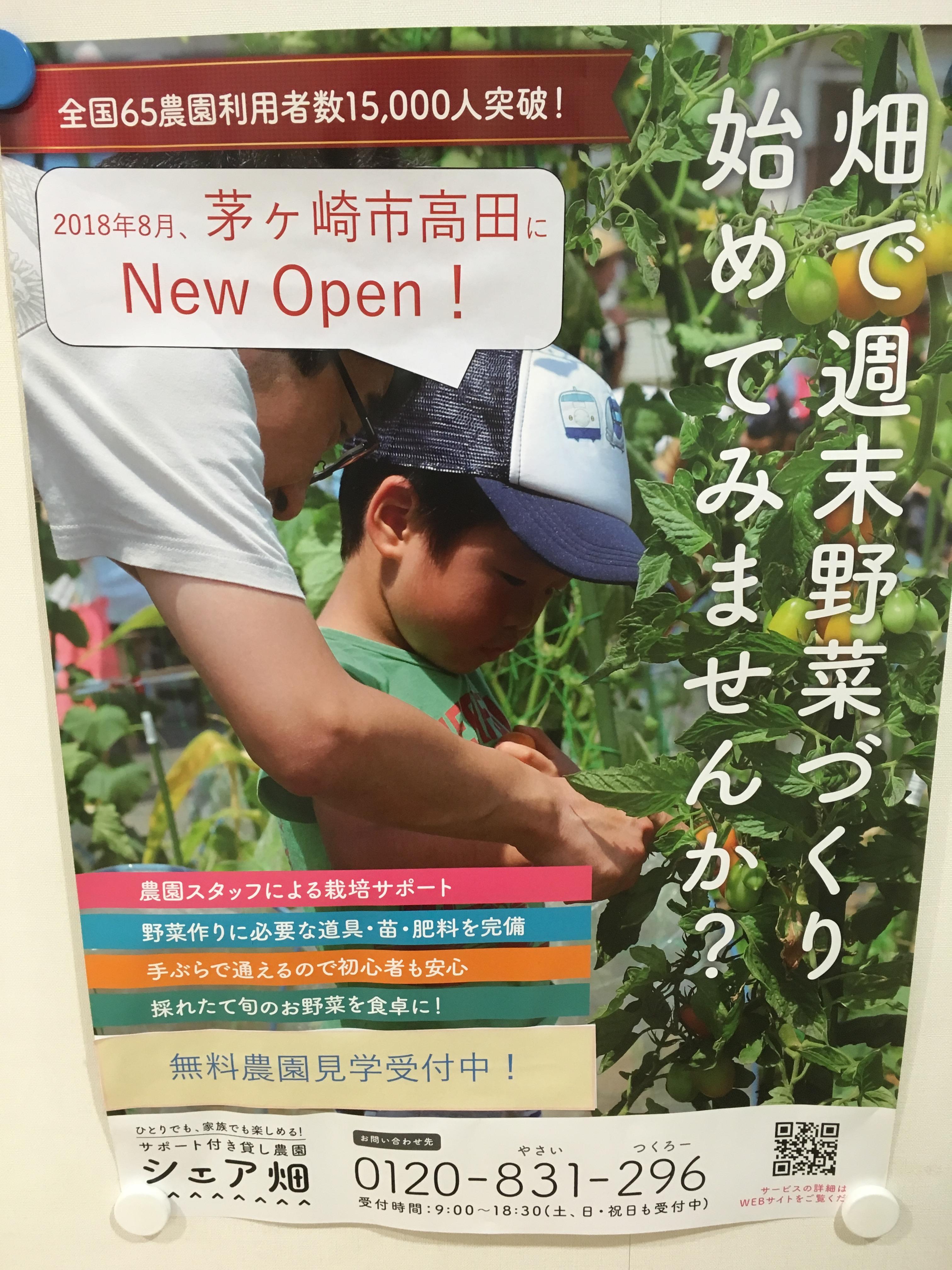 茅ヶ崎市高田にシェア畑がオープン!北茅ヶ崎駅から自転車で6分の好立地です。