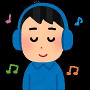 Music headphone man