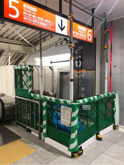茅ヶ崎駅のエスカレーターの工事期間はいつまで?