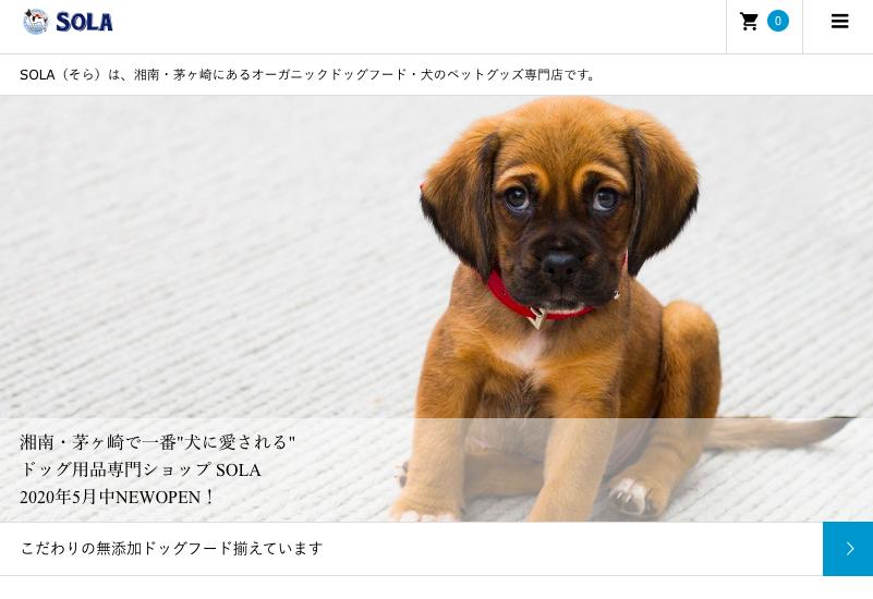 SOLAのホームページ